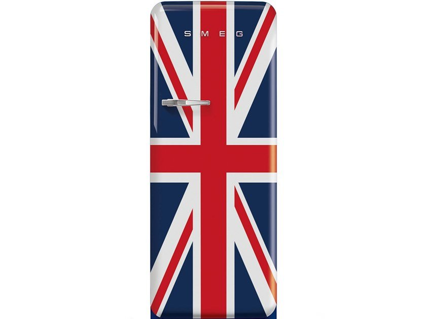 Freestanding single door refrigerator Class A+++ FAB28 UNION JACK by Smeg