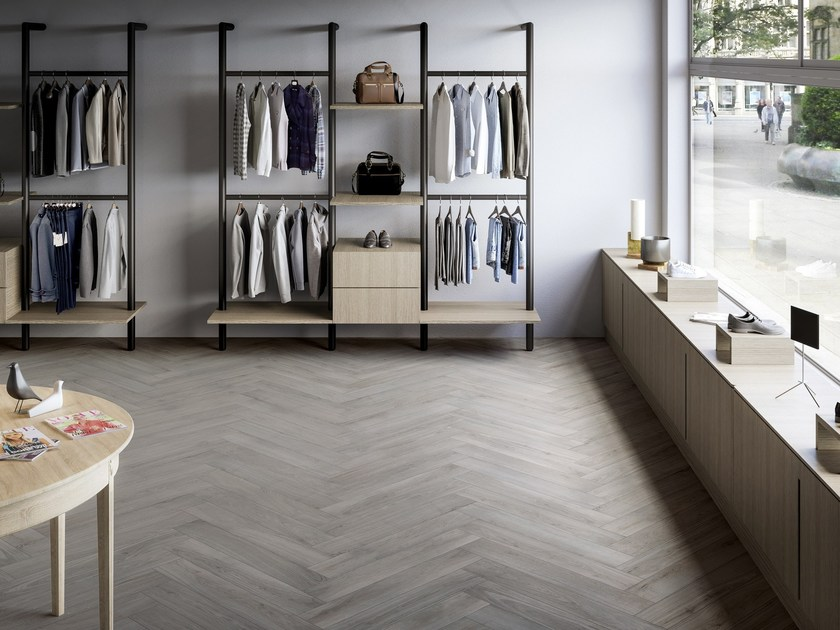 Porcelain stoneware flooring with wood effect FABER by Ceramiche Refin