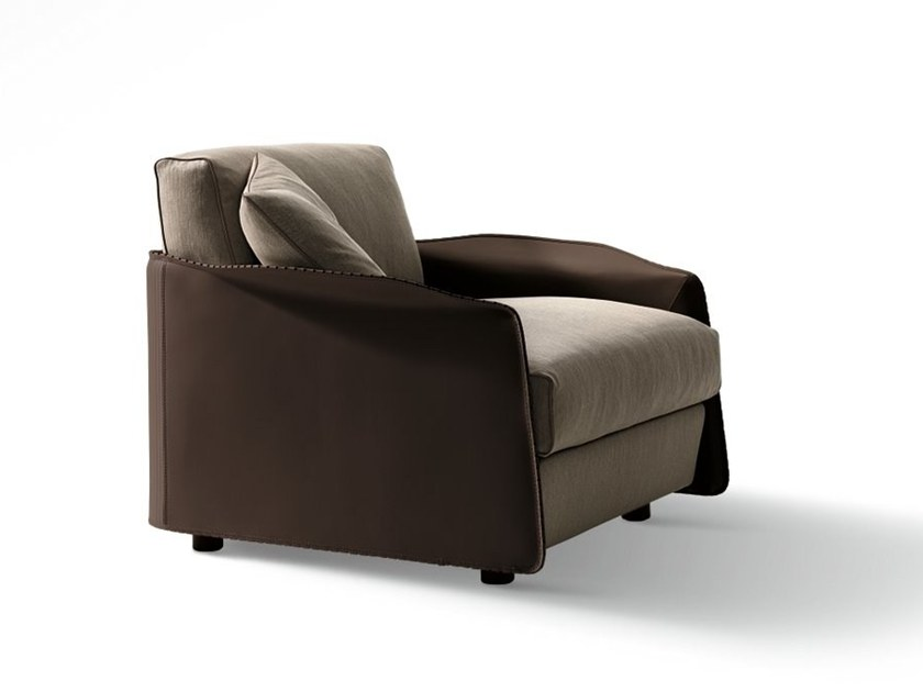 Fabric armchair with armrests FABULA | Armchair by GIORGETTI