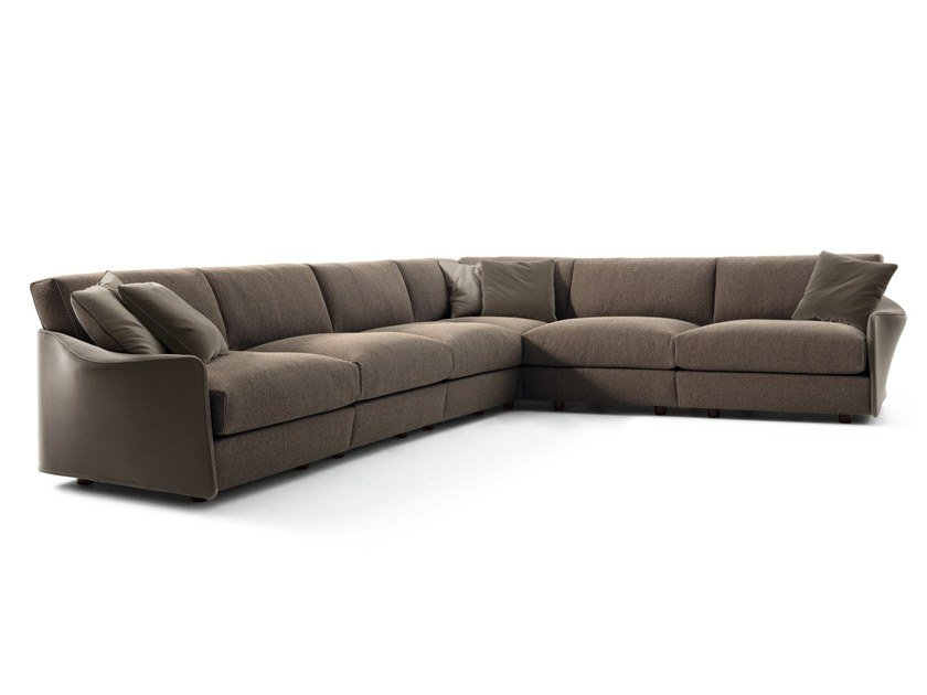 Corner sectional fabric sofa FABULA | Corner sofa by GIORGETTI