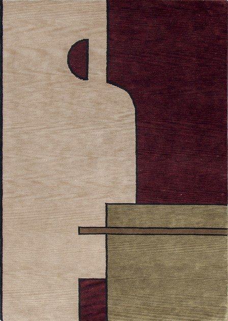 Handmade square rectangular wool rug FACE ONE | Wool rug by Sirecom Tappeti