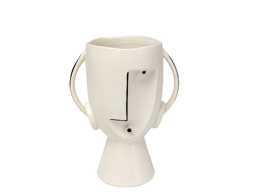 Ceramic Vase Face Pot By Kare Design
