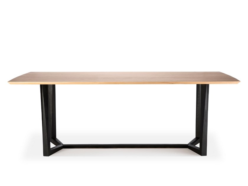 Rectangular oak dining table OAK FACETTE | Table by Ethnicraft