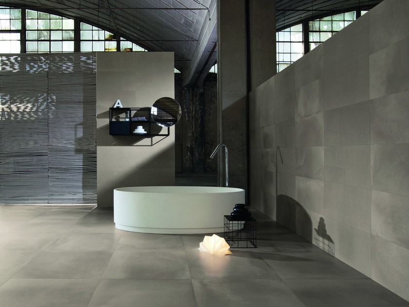 Porcelain Stoneware Wallfloor Tiles With Concrete Effect Factory By