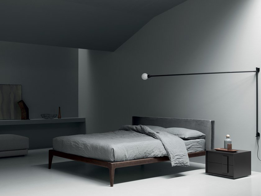 Ash bed with upholstered headboard FAIR by Md House