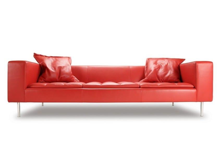 Tufted leather sofa FAIRFAX | Sofa by Boss Design