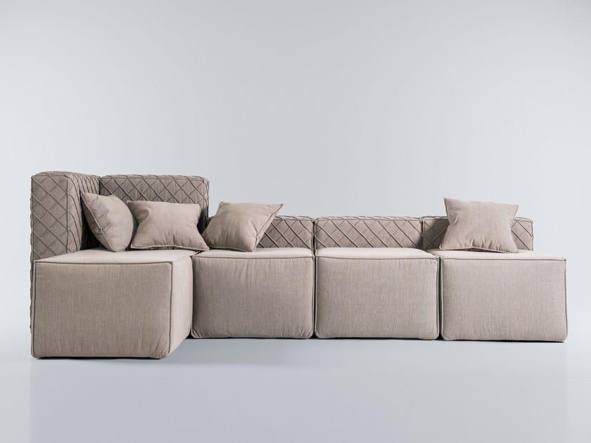 Modular fabric sofa FAKTURA | Sofa by FAINA Collection