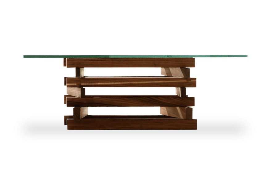 Wood And Glass Coffee Table FALÒ SMALL   Wood And Glass Coffee Table By  Riva 1920