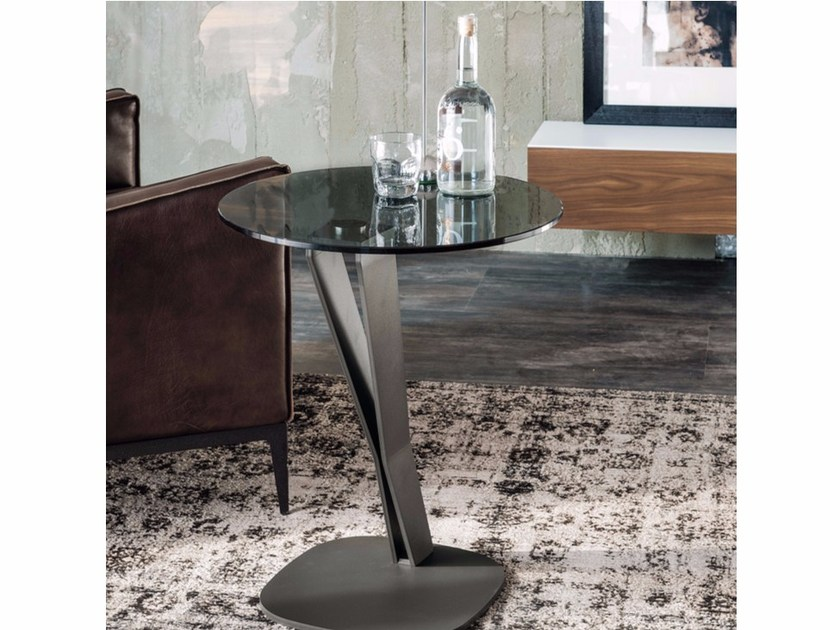 Round crystal coffee table FALCO by Cattelan Italia