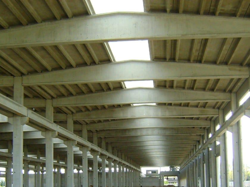 Precast reinforced concrete roof FALDAR by Betoncablo