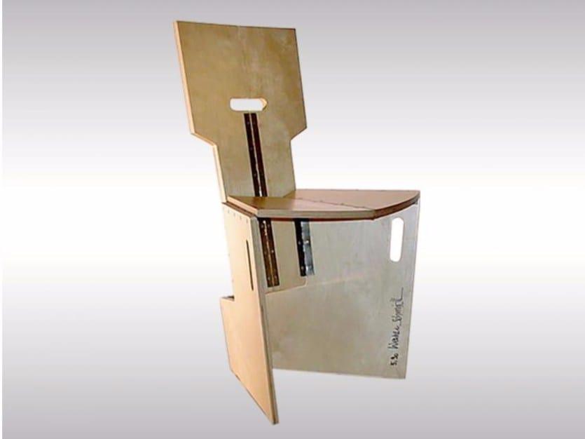 Beech chair FALTSESSEL by Woka Lamps Vienna