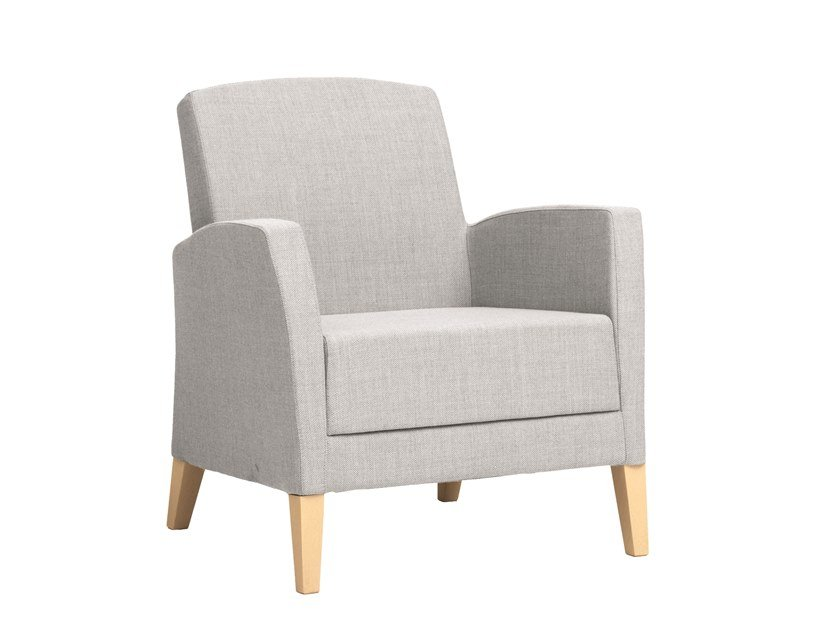 Fabric armchair with armrests FANDANGO | CONTRACT | Armchair with armrests by PIAVAL