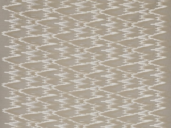 Jacquard cotton fabric with graphic pattern FANDANGO by Dedar
