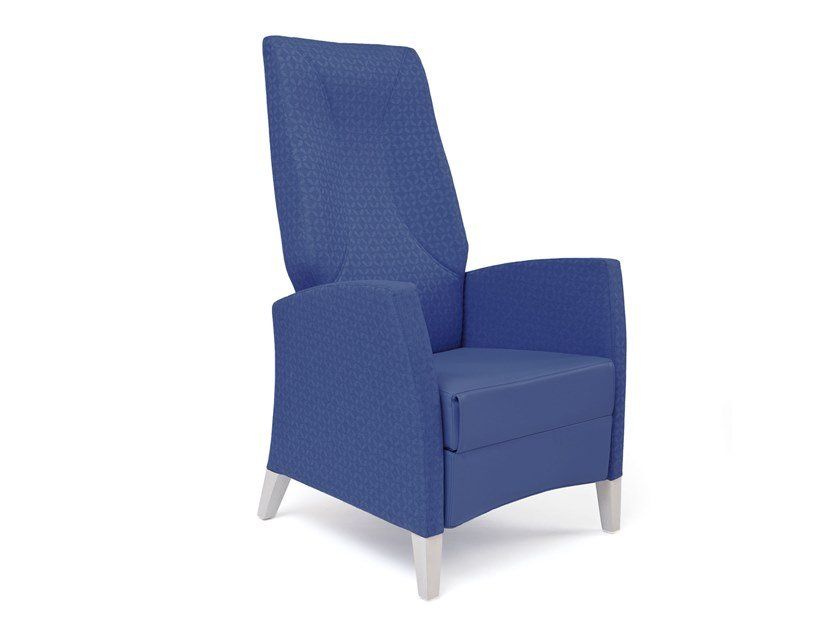 Contemporary style high-back fabric armchair with armrests with footstool FANDANGO | HEALTH & CARE | Recliner armchair by PIAVAL