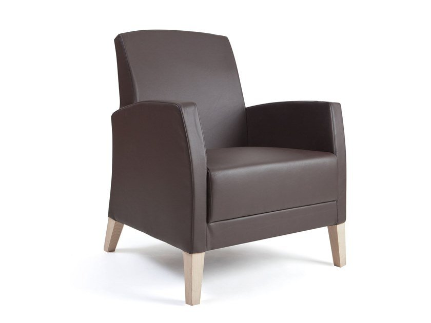 Leather armchair with armrests FANDANGO | HEALTH & CARE | Leather armchair by PIAVAL