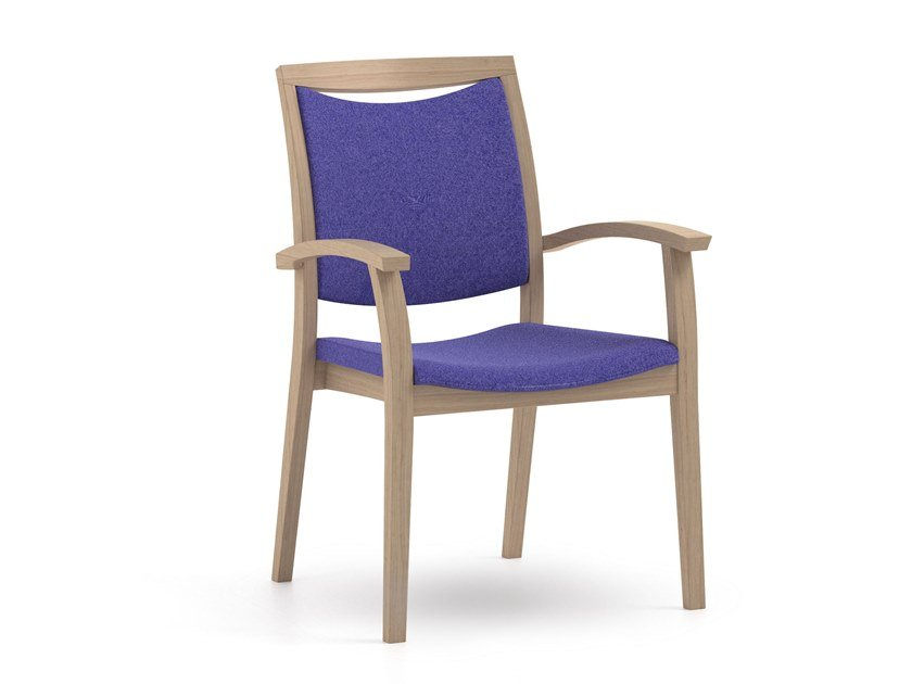 Fabric chair with armrests FANDANGO | HEALTH & CARE | Fabric chair by PIAVAL