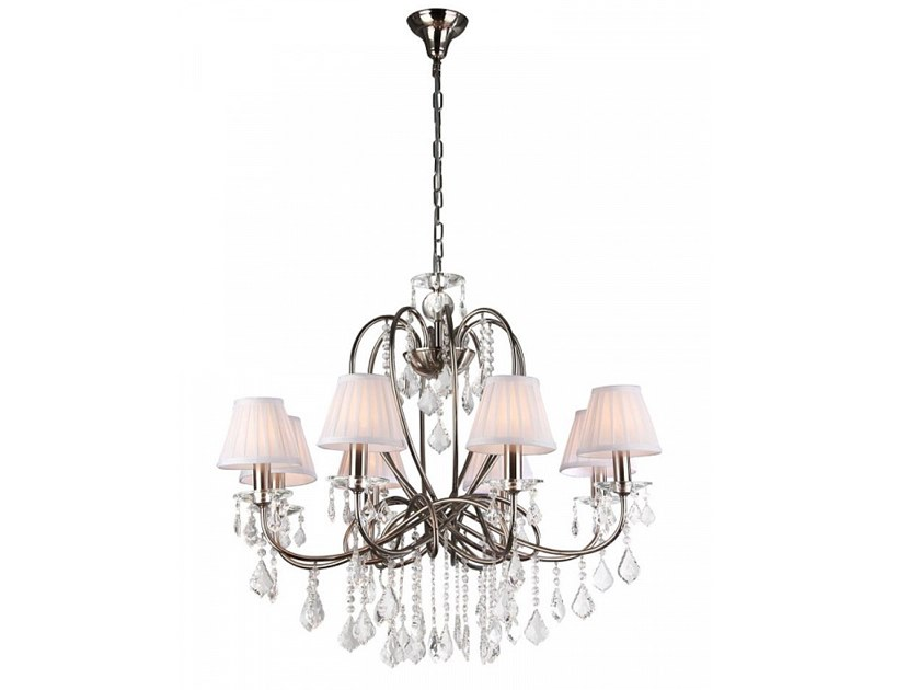 Contemporary style direct-indirect light metal chandelier with crystals FANTASIA by MAYTONI