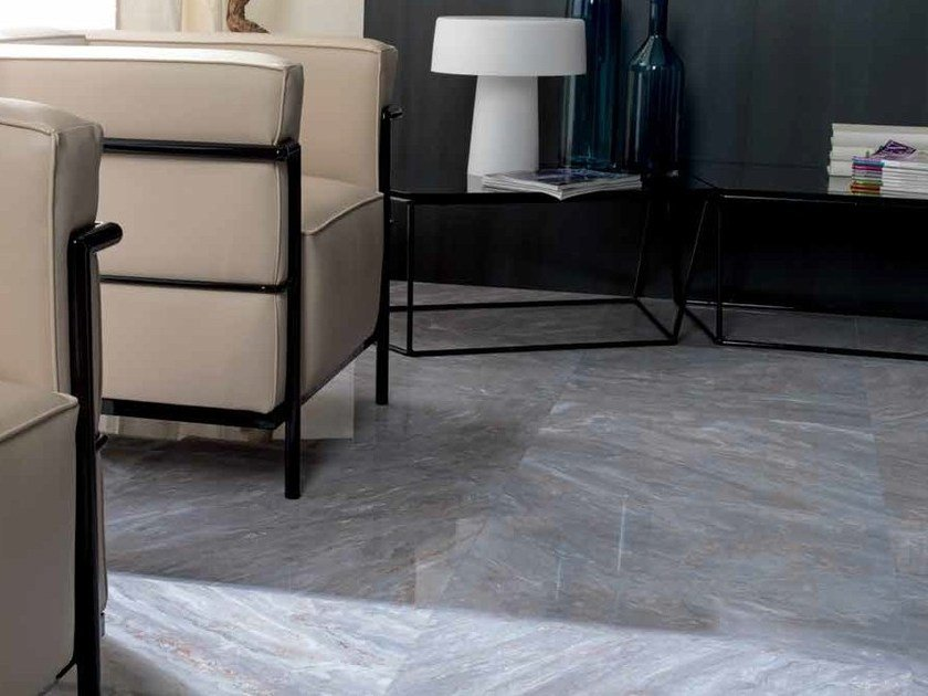 Porcelain stoneware flooring with marble effect FANTASY by Venis