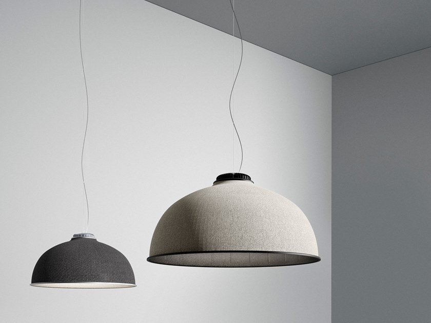 LED fabric pendant lamp FAREL by LUCEPLAN