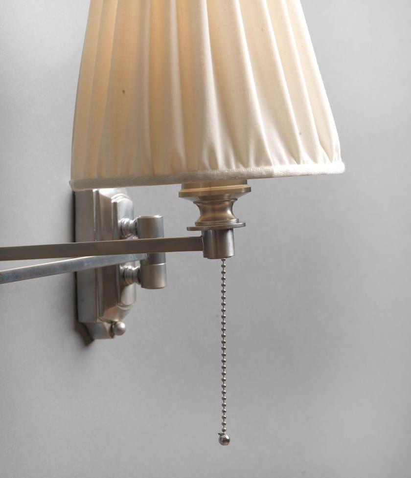 Lampade Da Parete Con Braccio lampada da parete a luce diretta e indiretta in ottone con