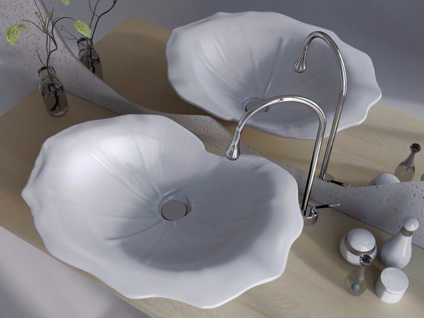 Countertop Adamantx® washbasin FARFUGLIUM by ZAD ITALY