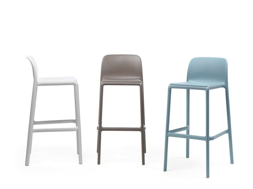 High stackable glass-fibre barstool FARO by Nardi