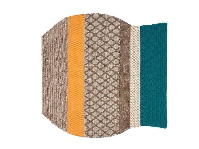 Striped wool rug FAROL by GAN