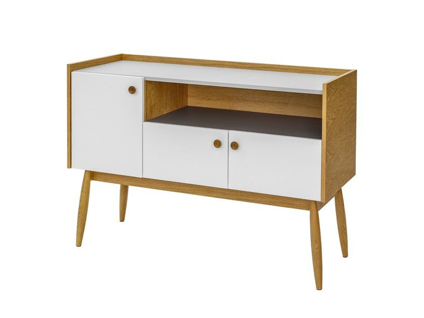 Lacquered sideboard with doors FARSTA | Sideboard by Woodman