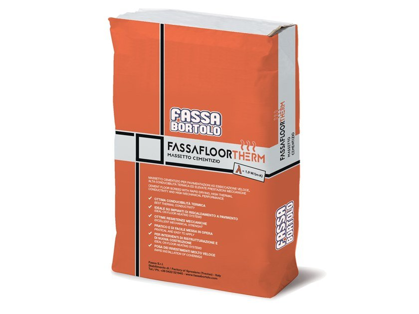 Screed and base layer for flooring FASSAFLOOR THERM by FASSA