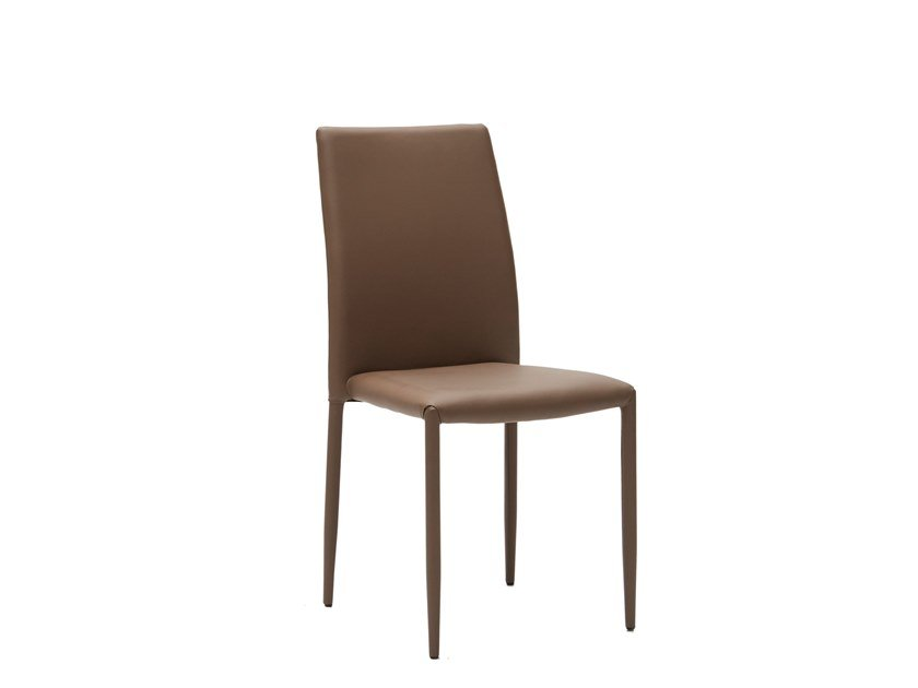 Stackable Eco-leather restaurant chair FAST by La seggiola
