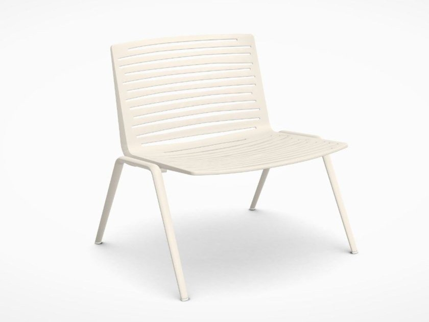 Garden aluminium easy chair FAST - ZEBRA Creamy white by Archiproducts.com