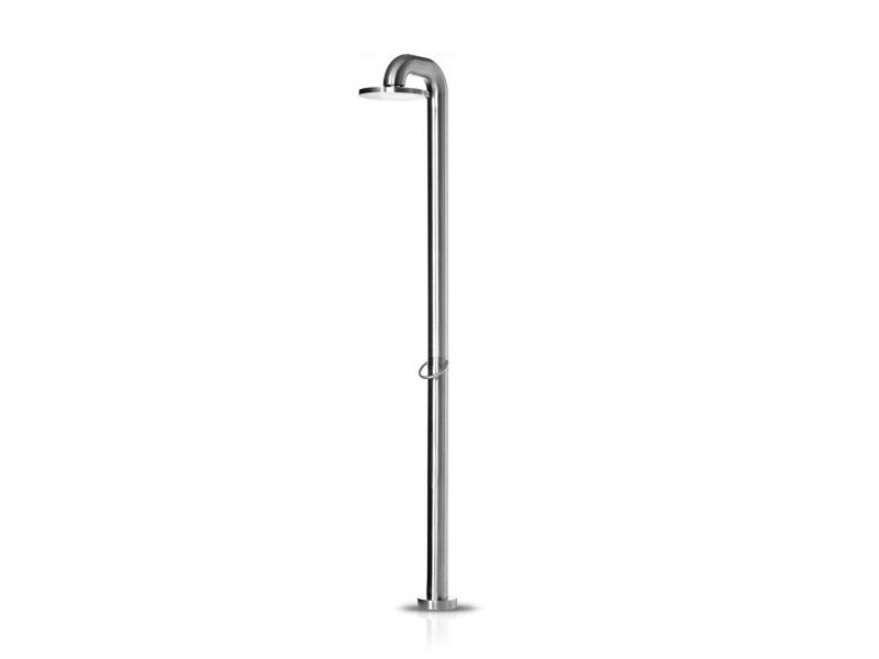 Floor standing stainless steel shower panel FATLINE 01 by JEE-O