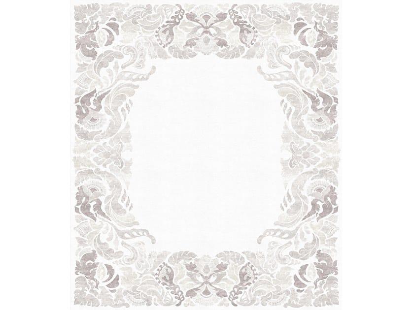 Handmade rectangular rug FAUNUS ORCHARD GRAY by Tapis Rouge