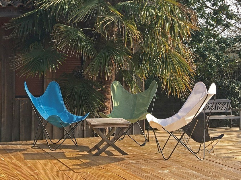 Folding Batyline® garden armchair with removable cover AA© BATYLINE by Serge Ferrari by AIRBORNE