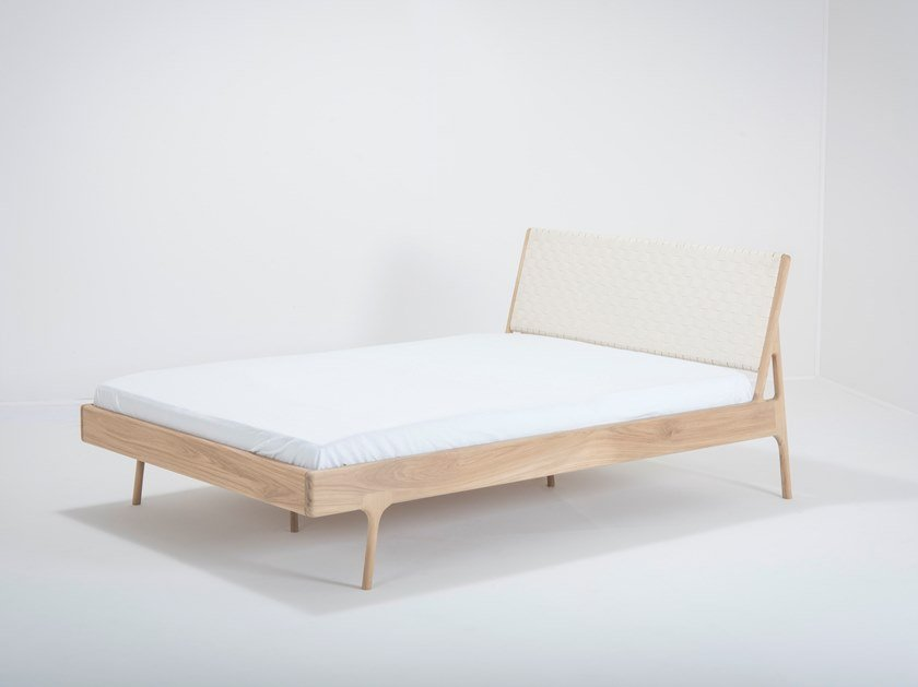 Oak bed double bed FAWN | Bed by Gazzda