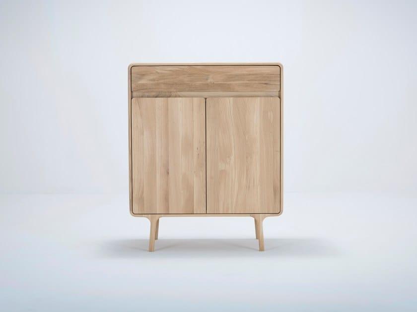 Oak highboard with doors FAWN CABINET by Gazzda