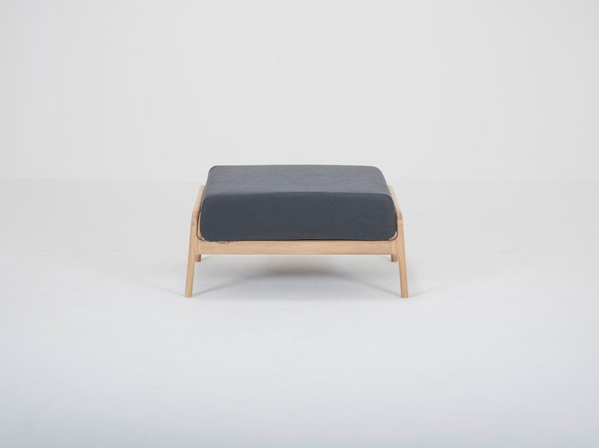 Fabric footstool FAWN | Footstool by Gazzda
