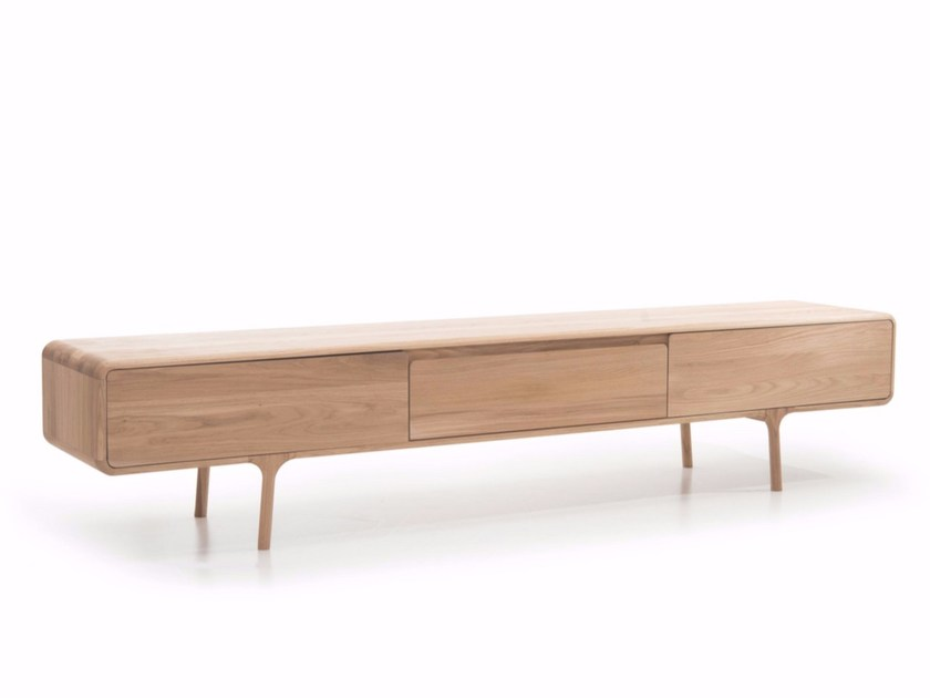 Lowboard Sideboard oak sideboard with drawers fawn lowboard fawn collection by gazzda