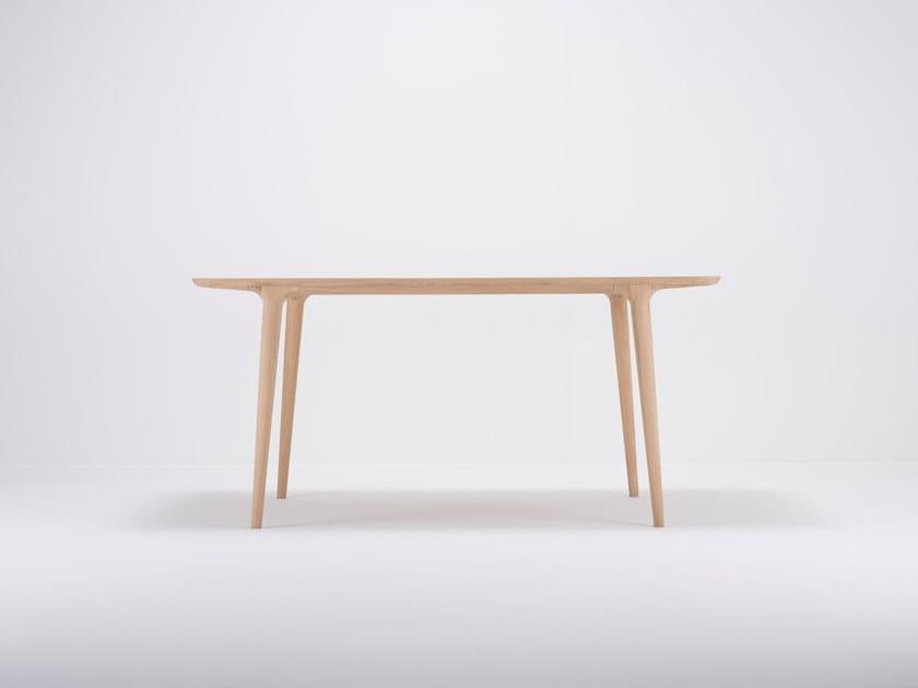 Rectangular oak dining table FAWN | Table by Gazzda