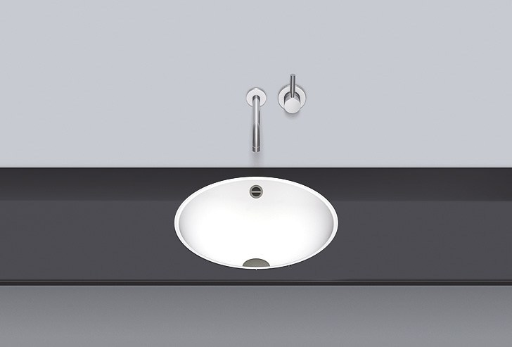 Flush built-in basin from glazed steel FB.K450 by Alape