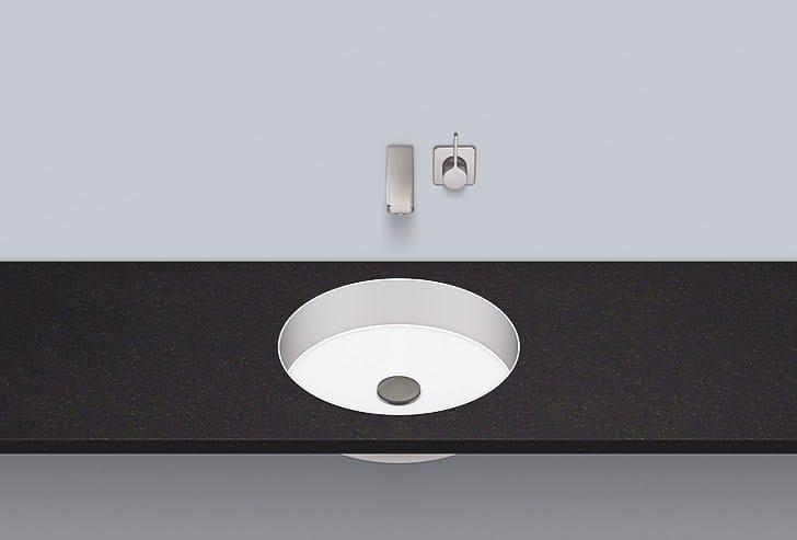 Flush built-in basin from glazed steel FB.KE400 by Alape