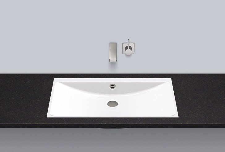 Flush built-in basin from glazed steel FB.R800.3 by Alape