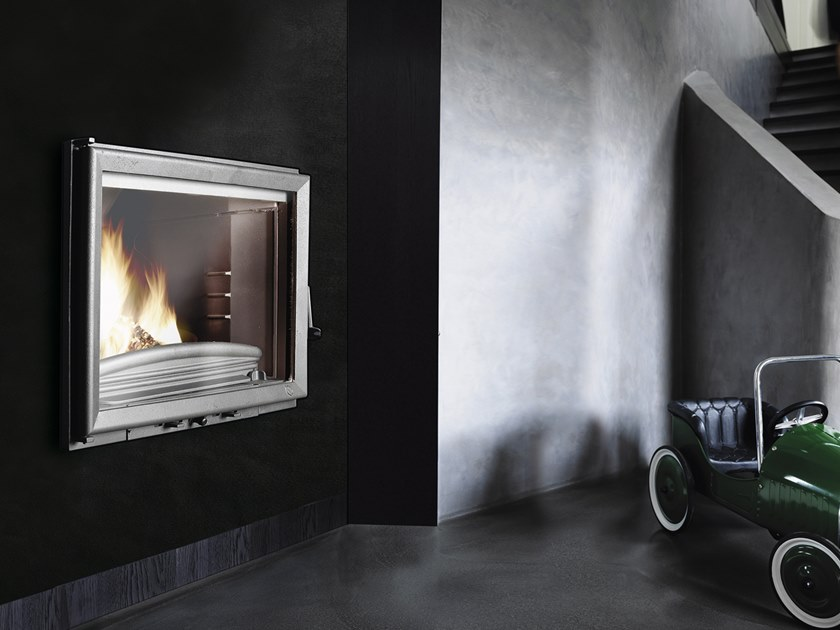 Wood-burning Class A built-in cast iron fireplace FC 70 GV by CAMINETTI MONTEGRAPPA