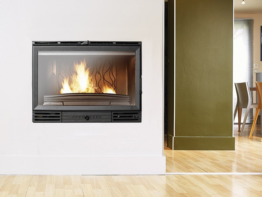 Wood-burning Class A cast iron Fireplace insert FC 80 VT by CAMINETTI MONTEGRAPPA