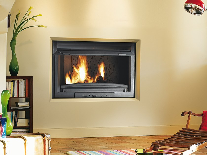 Wood-burning Class A built-in cast iron fireplace FC 90 RL by CAMINETTI MONTEGRAPPA