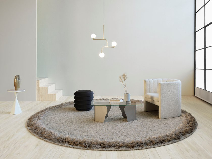 Handmade round rug FEATHER | Round rug by Kasthall