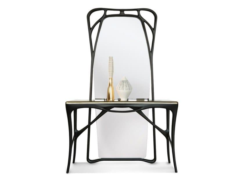 Consolle in frassino con piano laccato liquid-bronze FEBE | Consolle by Bellotti Ezio