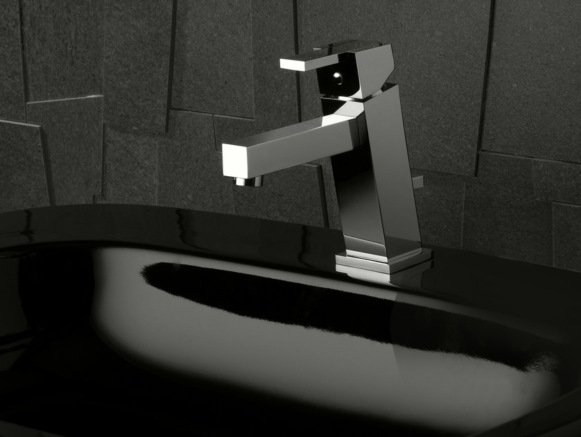 Washbasin tap with automatic pop-up waste FEBO Q | Washbasin mixer by Signorini