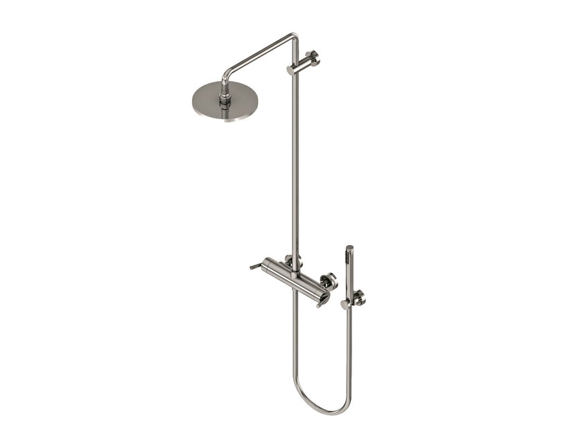 Shower tap with hand shower with overhead shower FEBO T   Shower tap by Signorini