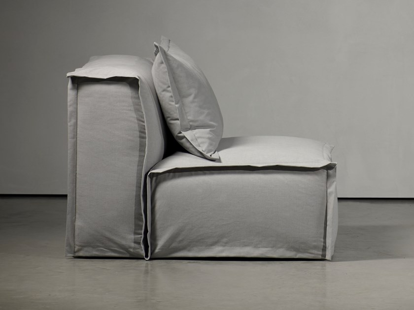 Upholstered armchair with removable cover FEDDE LIVING   Armchair by Piet Boon